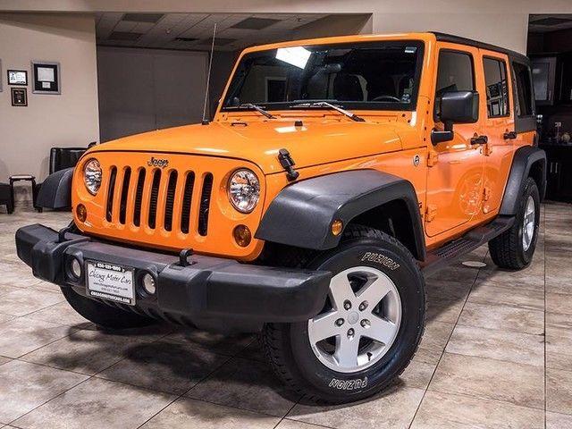 2012 Jeep Wrangler Unlimited Orange Crush Exterior 5-Speed ...