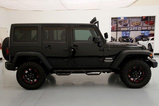 2012 Jeep Wrangler Unlimited Sport Led Spotlights Nitto Tires