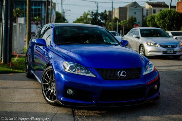 2012 Lexus Isf Is F Ultrasonic Blue Mica Custom Audio
