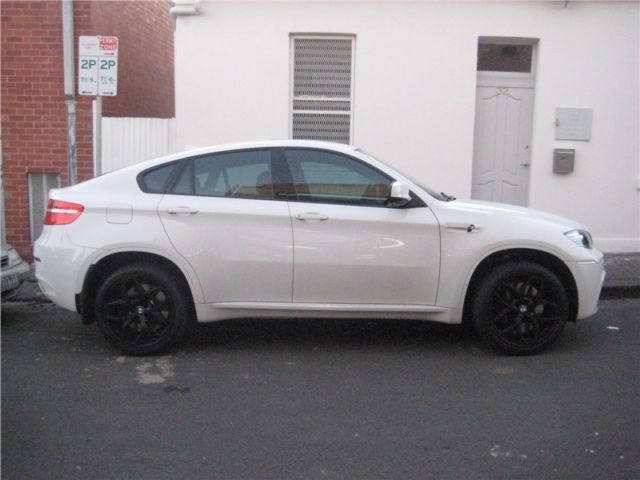 2013 Bmw X6 White With 21 Black Bmw Rims And Winter Tires