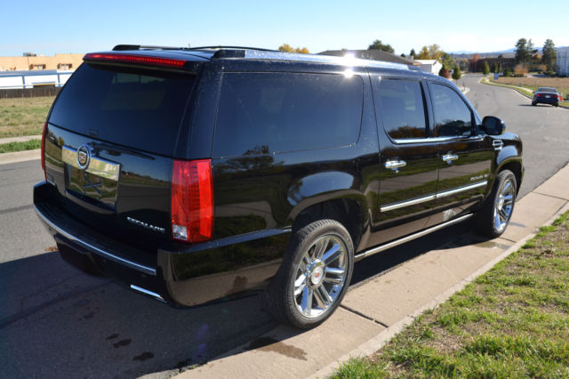 2013 cadillac escalade platinum esv black with two tone. Black Bedroom Furniture Sets. Home Design Ideas