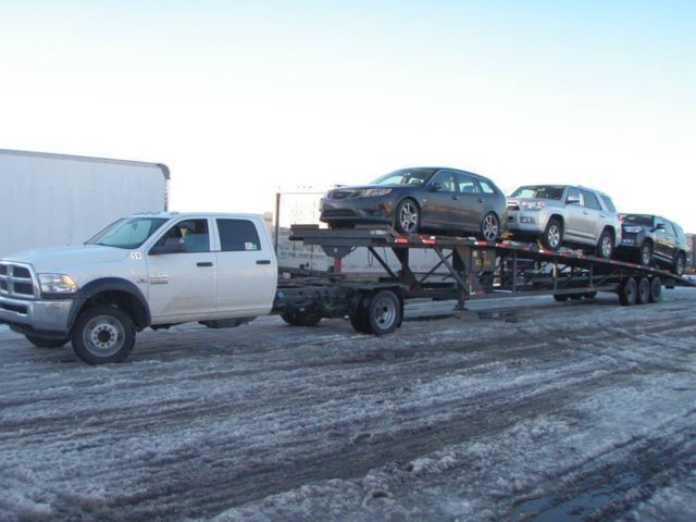 2013 Dodge Ram 4500 With 2006 Kaufman Trailer 3 4 Car Hauler