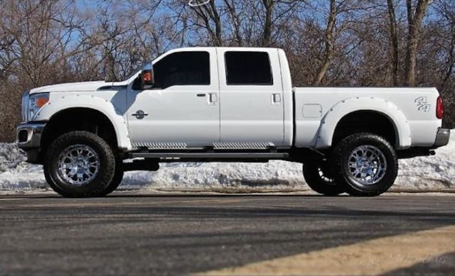2013 f250 6 7 diesel lifted with 20k in upgrades white black. Black Bedroom Furniture Sets. Home Design Ideas