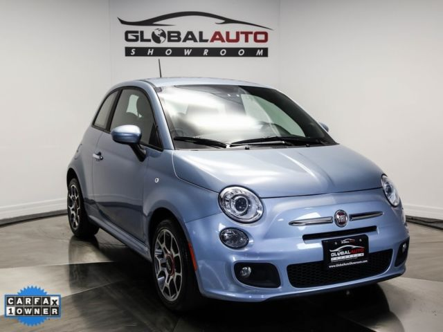 2013 Fiat 500 Sport 46603 Miles Luce Blu Light Blue 2d Hatchback
