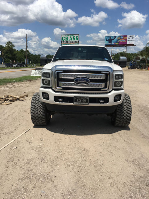 2013 ford f250 white platinum 4x4 fabtech american force amp steps fully loaded. Black Bedroom Furniture Sets. Home Design Ideas