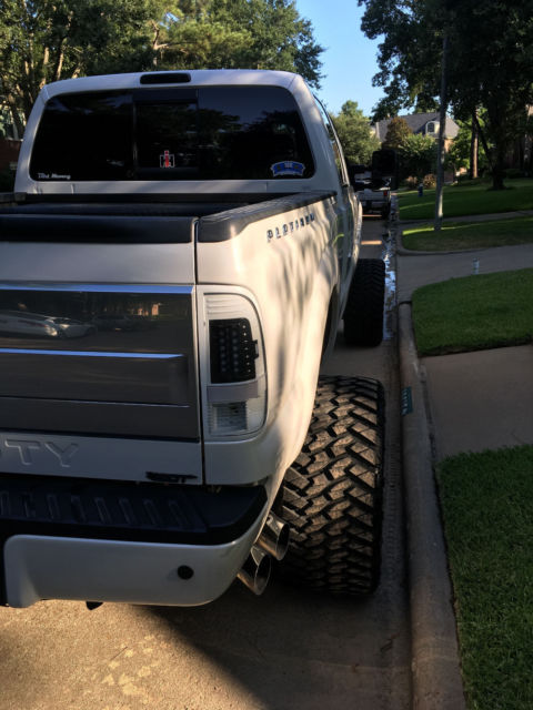 2013 Ford F250 White Platinum 4x4 Fabtech American Force