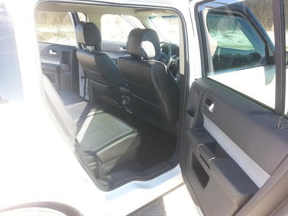 Ford Flex Sel White Black Top Black Leather Interior Fully Loaded Clean
