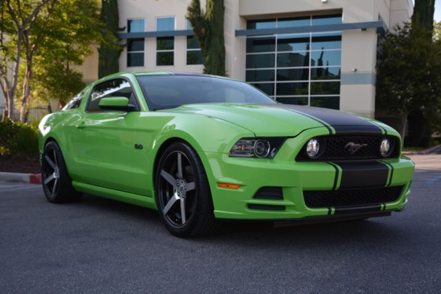 Ford Mustang Gt Gotta Have It Green Custom Wheels Coyote V
