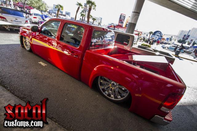 "2013 Gmc Sierra 1500 >> 2013 GMC Sierra crew cab show truck custom frame bagged accuair elevel26""wheels"