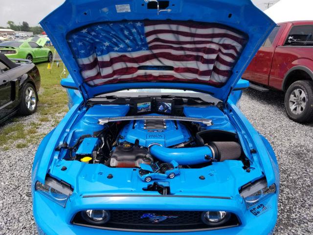 2013 Grabber Blue Ford Mustang Gt Premium Convertible W