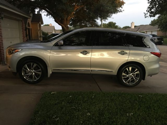 2013 Infiniti Jx35 Silver Wpremium Theater And Deluxe Touring Packages