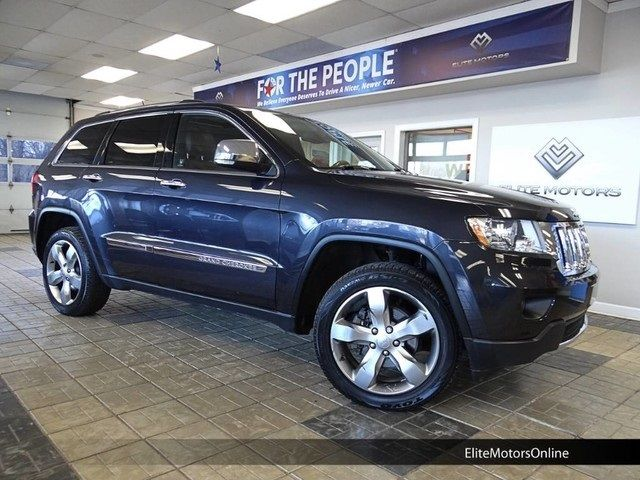 2013 Jeep Grand Cherokee Overland 61656 Miles True Blue Pearlcoat