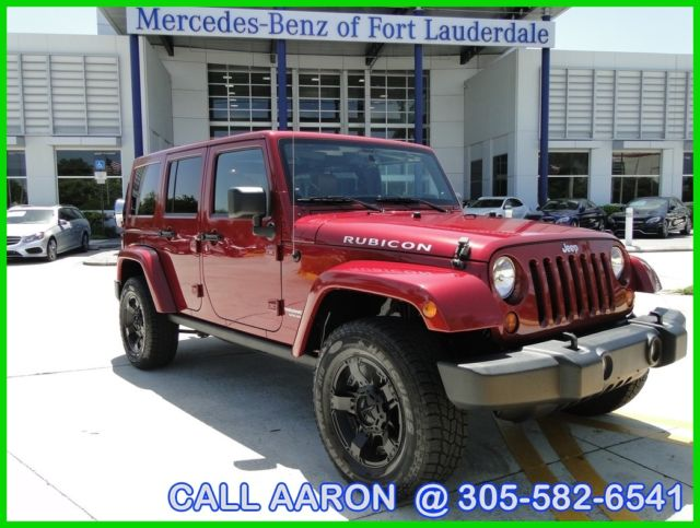 2013 JEEP WRANGLER RUBICON UNLIMITED RARE COLOR COMBO LOADED NEW TIRES  AWESOME!!