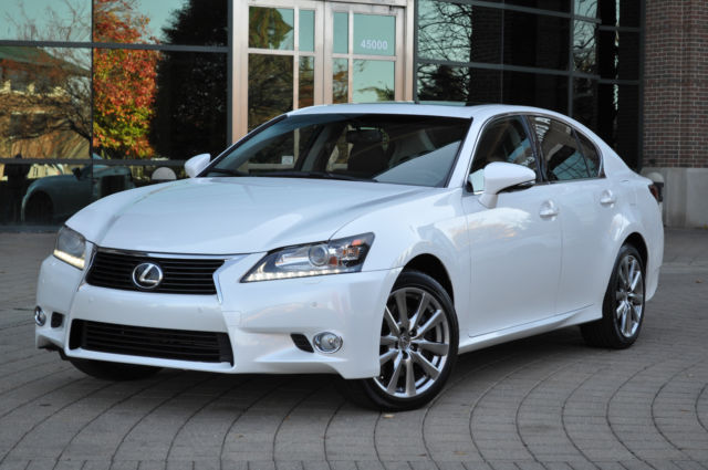 2013 lexus gs350 awd pearl white black leather all wheel drive navigation. Black Bedroom Furniture Sets. Home Design Ideas