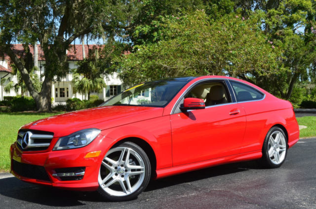 2013 mercedes benz c class 2dr coupe c250 p1 pkg becker map pilot mars red. Black Bedroom Furniture Sets. Home Design Ideas