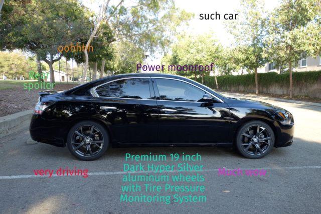 2013 Nissan Maxima 35 Sv Sport Package W Tech Charcoal Black W