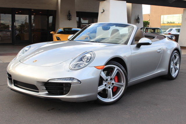 2013 Porsche 911 S Cab Platinum Silver Umber Loaded