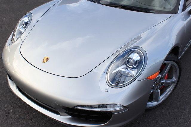 2013 Porsche 911 S Cab Platinum Silver Umber Loaded