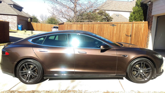 2013 Tesla Model S 85 Kwh Brown Excellent Condition