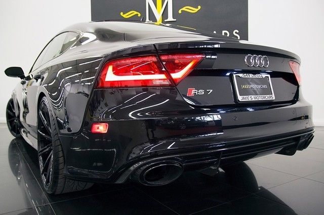 2014 audi rs7 phantom black on black only 9800 miles lots of carbon fiber. Black Bedroom Furniture Sets. Home Design Ideas