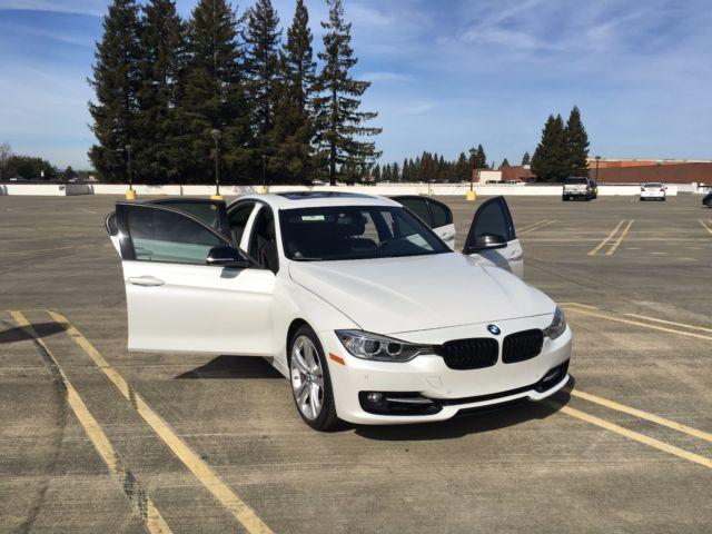 2014 Bmw 335i Mineral White Metallic Exterior Black Leather Interior