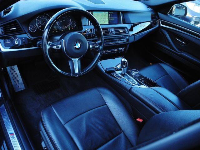 2014 bmw 5 series 535i xdrive m sport 31222 miles carbon black metallic sedan 6. Black Bedroom Furniture Sets. Home Design Ideas
