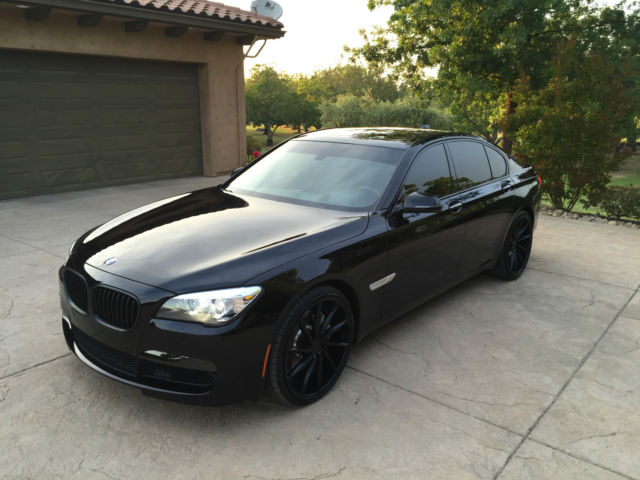 2014 Bmw 750i M Sport Black On Black W 22s Loaded