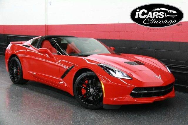 2014 Chevrolet Corvette Stingray Z51 3LT 1 Owner 899 Miles $72,530 MSRP  RED/RED