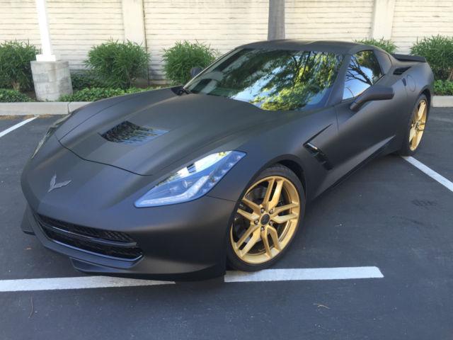 2014 chevrolet corvette stingray z51 matte black bronze rims 6k miles. Cars Review. Best American Auto & Cars Review