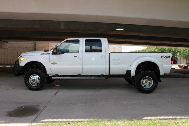 2014 FORD F350 LARIAT ULTIMATE FX4 4X4 NAVIGATION LIFTED DUALLY 6.7L POWERSTROKE