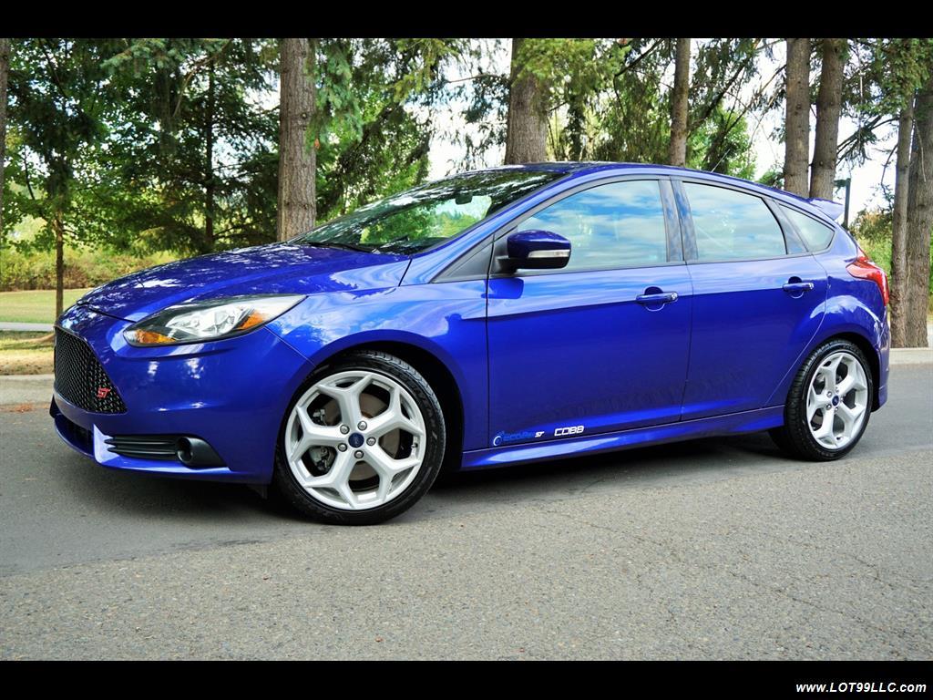 2014 ford focus st st2 6 speed recaro 51k blue 6 speed manual 4 door hatchback