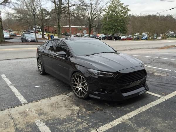2014 ford fusion tuxedo black leather custom