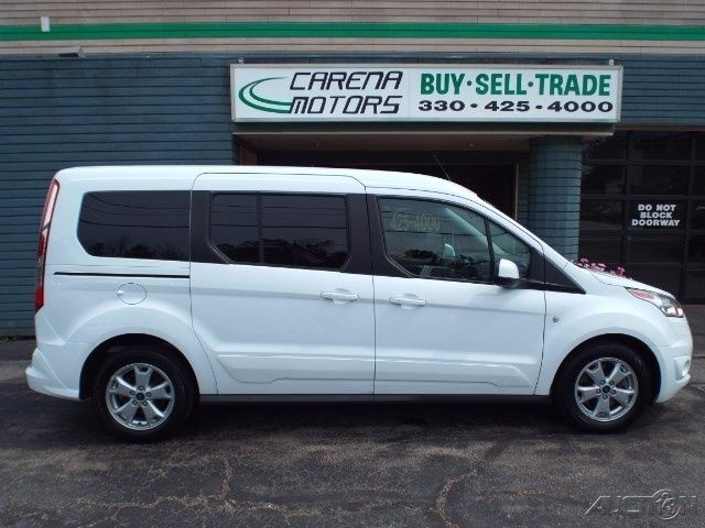 2014 Ford Transit Connect Wagon Titanium Van 7 Passenger Leather White Lwb