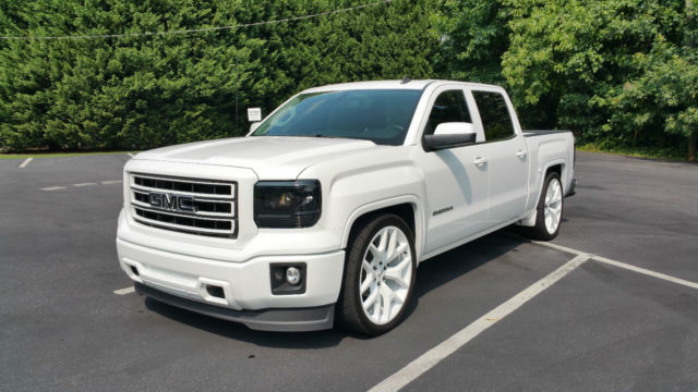 2014 Gmc Sierra 1500 Loaded Custom All White 24 Quot Wheels