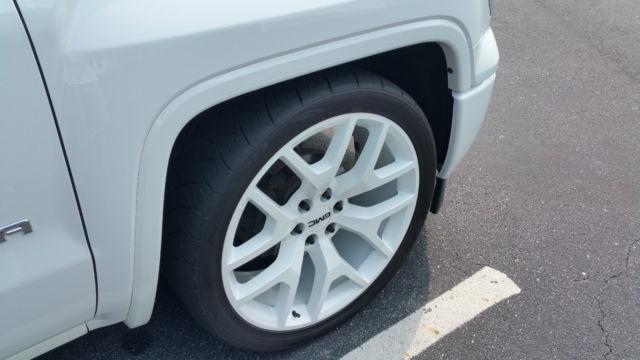 "2014 GMC Sierra 1500 Loaded Custom All White 24"" wheels ..."