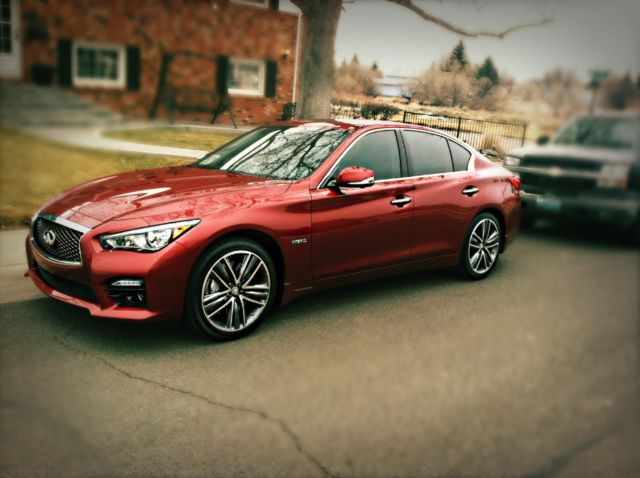 2017 Infiniti Q50s Hybrid Red Tint Sporty Fast 4 Door Fully Loaded Awd