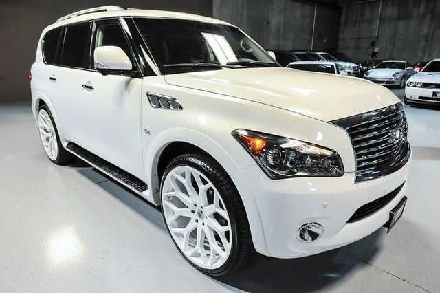 2014 INFINITI QX80 AWD 1OWNER THEATER PKG 26IN ASANTI WHEELS