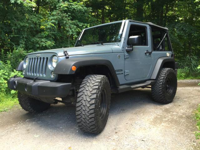 "Jeep Wrangler With Black Rims >> 2014 Jeep Wrangler Sport 35"" Toyo 3"" lift Anvil 2-door"