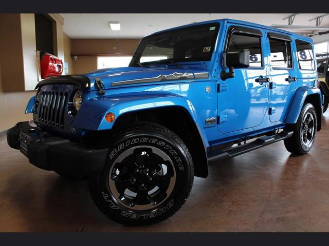 2014 jeep wrangler unlimited polar edition automatic 4x4 vivid blue leather. Black Bedroom Furniture Sets. Home Design Ideas