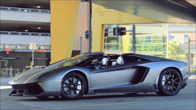 2014 lamborghini aventador roadster lp700 4 matte grey. Black Bedroom Furniture Sets. Home Design Ideas