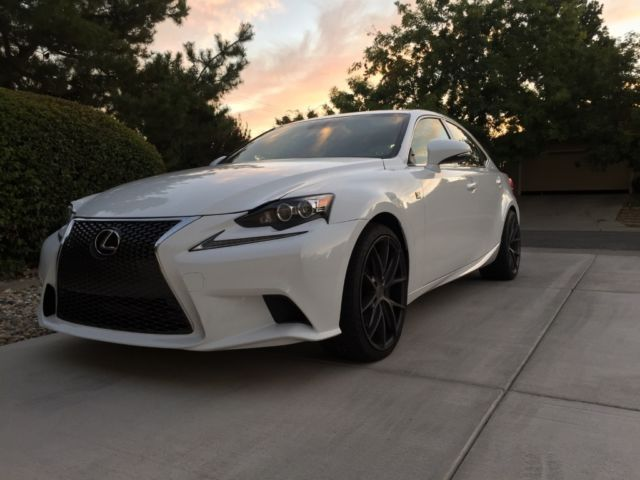 2014 lexus is350 f sport ultra white red leather 19 staggered wheels. Black Bedroom Furniture Sets. Home Design Ideas