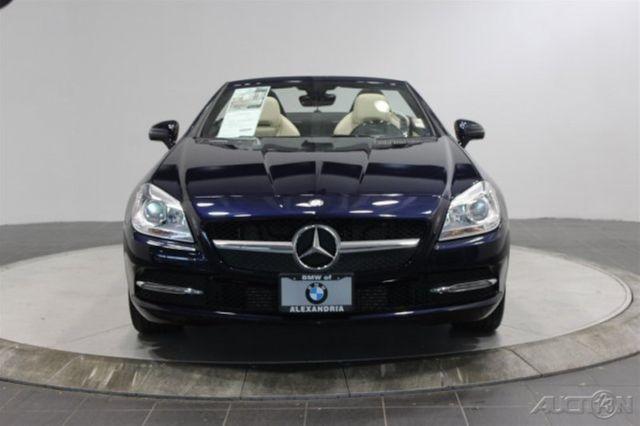 Mercedes Benz Of Alexandria >> 2014 Mercedes-Benz SLK SLK Convertible w GLASS TOP RWD NAVIGATION DARK BLUE