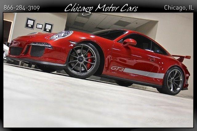 2014 PORSCHE 911 991 GT3 Amaranth Red Metallic Only 8k MLs TUBI