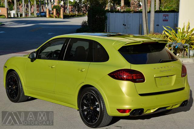 2014 Porsche Cayenne Gts Rare Peridot Green Low Miles