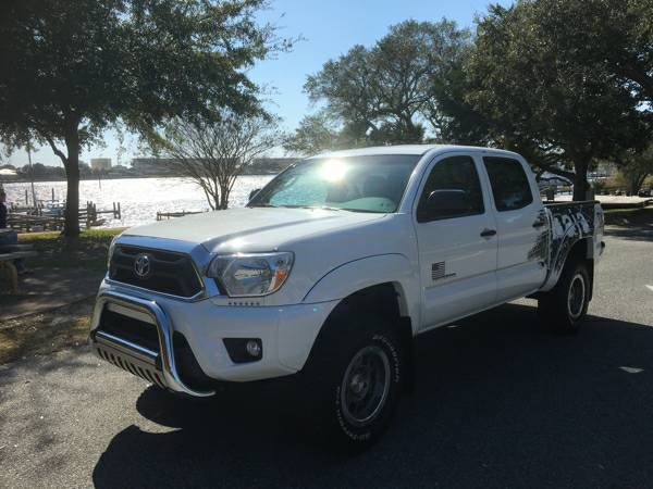 2014 Toyota Tacoma Baja Trd Edition White W Grey Decal