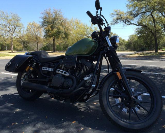 2014 yamaha bolt r spec green 1150mi only cobra exhaust for Green yamaha bolt