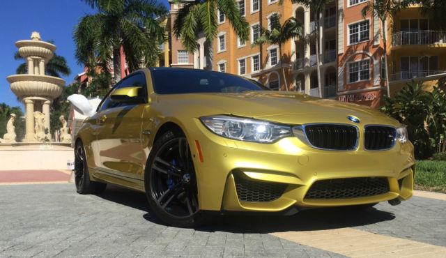 2017 Bmw M4 Coupe Austin Yellow Metallic Carbon Fiber Trim Executive Package