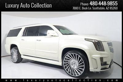 2015 Cadillac Escalade Esv Platinum Custom Wide Body 26 Forgiato