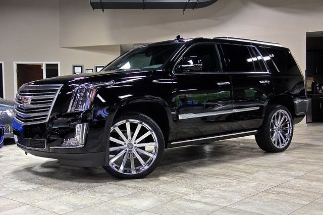 2015 cadillac escalade platinum 4wd suv 24 chrome velocity wheels loaded up wow. Black Bedroom Furniture Sets. Home Design Ideas