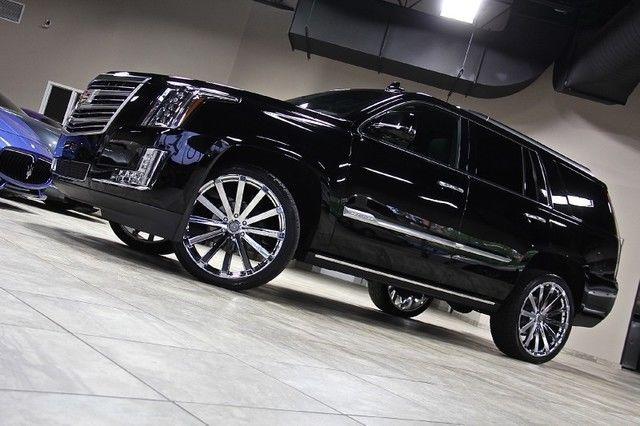 2015 Cadillac Escalade Platinum 4wd Suv 24 Chrome Velocity